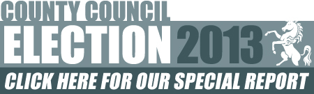 Kent County Council 2013 election special report button