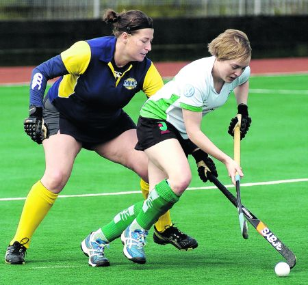 Canterbury (white) and Maidstone compete in the Kent Cup Final