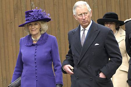 Prince Charles and the Duchess of Cornwall arrive at Canterbury Cathedral moments after a protestor charged at their car.
