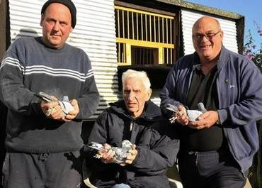 Micky Harris, Derek Adams and Roger Cheeseman from the Sturry Road Area Pigeon Racing Club. Picture: Barry Goodwin