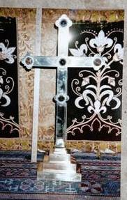The altar cross stolen by metal thieves from St Mary's Church, Bishopsbourne