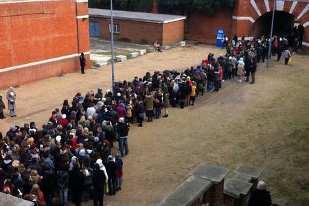 Auditions for Les Mis at the University of Kent.