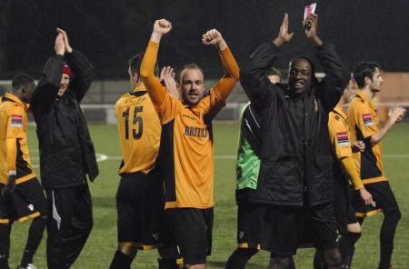 Maidstone celebrate win over Salisbury