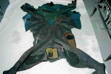 Wetsuit of diver found dead in the Channel in October 1992