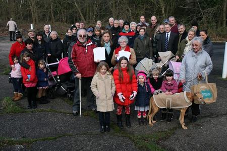 Residents against an asbestos depot in North Dane Way, Lordswood