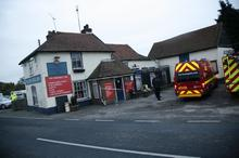 Fire crews at the Fenn Bell pub in St Mary Hoo