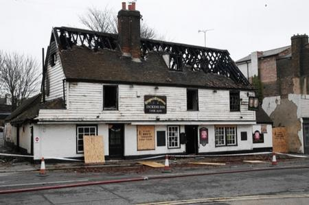 The Crispin and Crispianus pub in Strood has been destroyed by fire