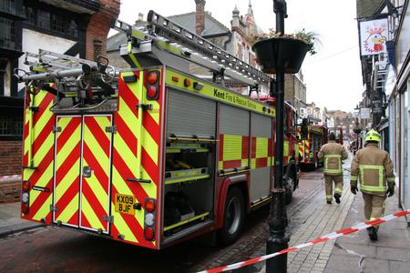 Fire at Kebab and Chicken Hut, Rochester high street.