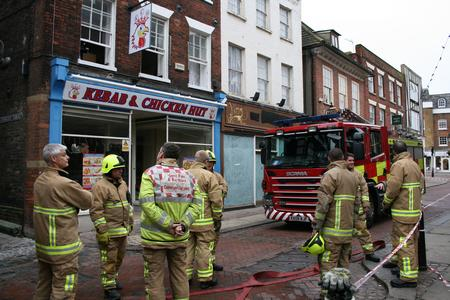 Fire at the Kebab and Chicken Hut in Rochester High Street.