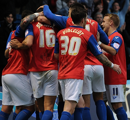 And Montrose is quickly congratulated by his team-mates