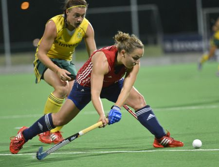 Canterbury's Dilly Newton in action for England against South Africa on Monday night