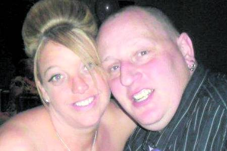Paul Scott, who died after an alleged brawl in Gillingham, with wife Michelle Scott
