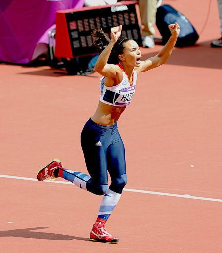 Louise Hazel throws a personal best javelin in the heptathlon