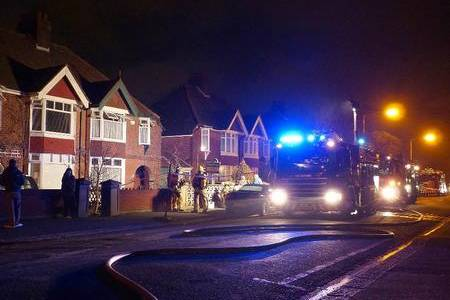 Fire crews at the scene of the electricity cable fire in Shorncliffe Road, Folkestone
