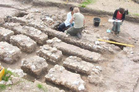The archaeological dig at the theatre site in Faversham