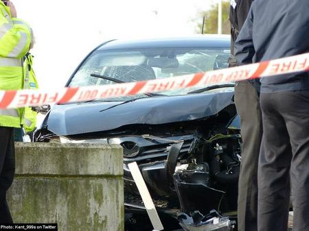 Fatal crash at Sandgate Esplanade.