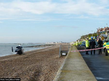 Crash in which a man died and two women were injured at Sandgate.