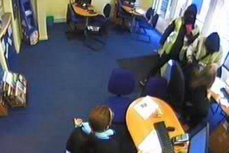 CCTV pictures show raiders bursting into Thomas Cook in Sandwich