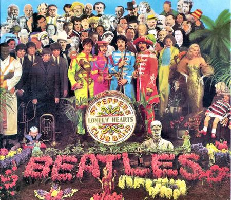 The cover to the Beatles' Sgt Pepper's Lonely Hearts Club Band