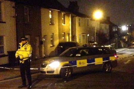 Scene of the shooting in Dartford