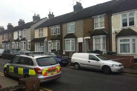 A gun was fired in Swanscombe last night
