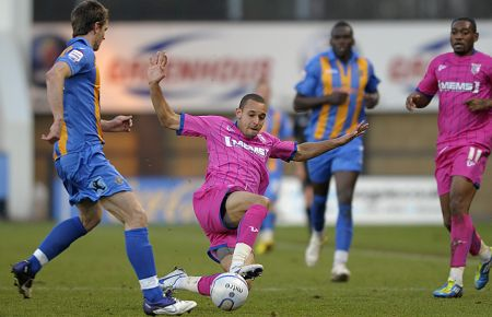 Curtis Weston in action against Shrewsbury