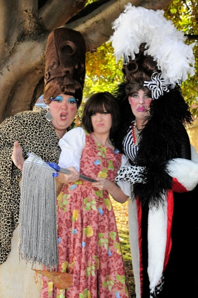 The Ugly Sisters and Cinderella- Danny Mills, Amy Mizzi and Paul Leno.