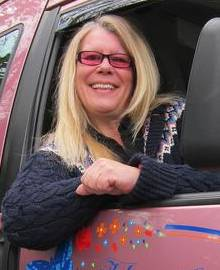 Taxi driver Heather Sewell from Petham