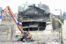 Demolition underway at Theatre Royal, Chatham