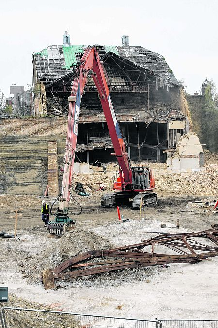 The End - Demolition underway at the Theatre Royal, Chatham