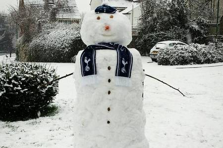 This snowman proudly displays a scarf in Dartford. Picture by Darryl Pitman