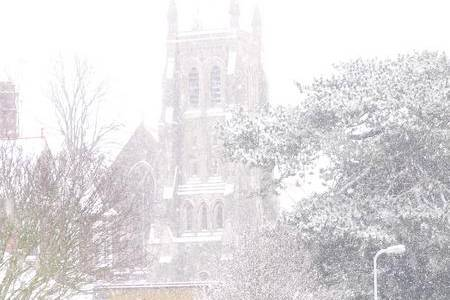 Tim Hughes captured this snowy church scene in Deal