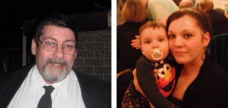 Mark Crook (left), his daughter Melissa and her toddler son Noah were killed in a house fire