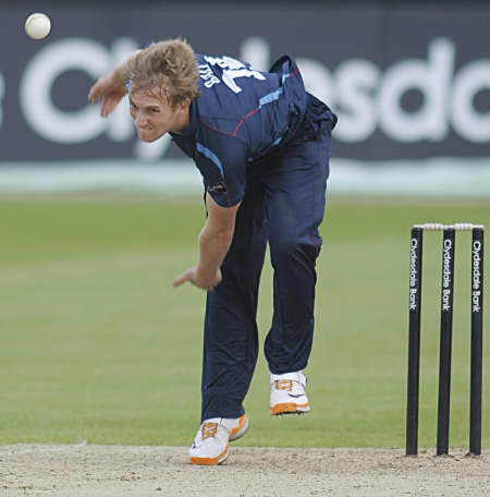 Adam Ball took two wickets in eight overs
