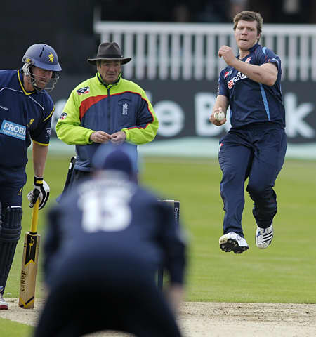 Matt Coles was unable to return a wicket from his seven overs