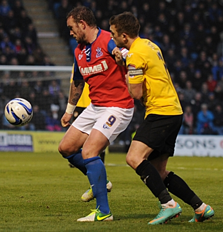 With Gills 2-0 down, Danny Kedwell got them back into the match