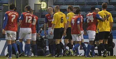 Tempers flare as the final whistle approaches