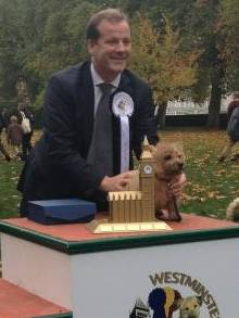 Charlie Elphicke and dog Star
