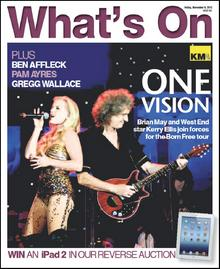 Brian May and Kerry Ellis star on this week's What's On cover
