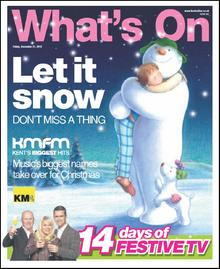 The Snowman and the Snowdog star on this week's What's On cover