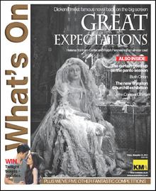 Helena Bonham Carter as Miss Havisham in Great Expectations stars on this week's What's On cover.