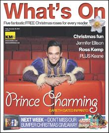 Singing star Gareth Gates stars in this week's What's On cover