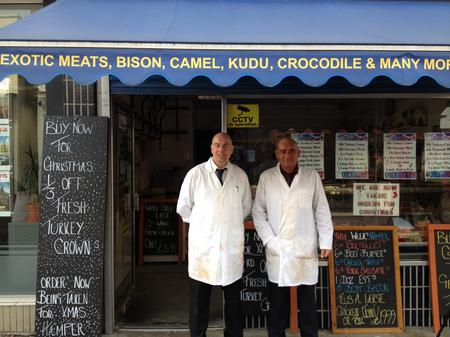 Richard Dayne and Scott Cassettari of JM Danslow butchers in Gravesend.