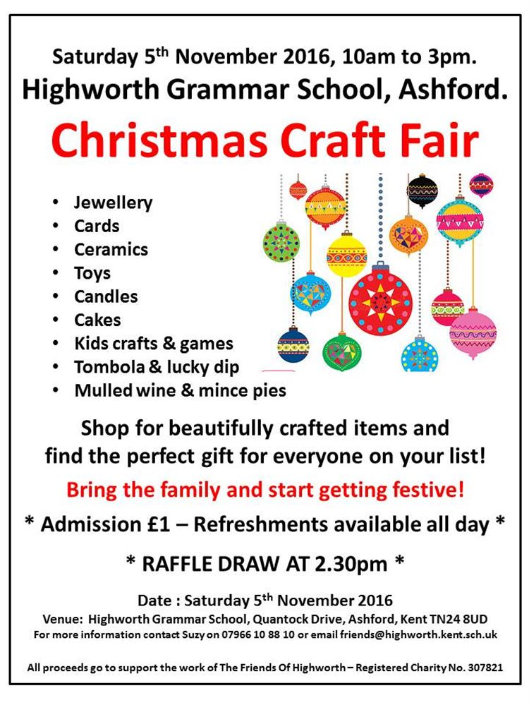 Highworth Grammar School Craft Fair